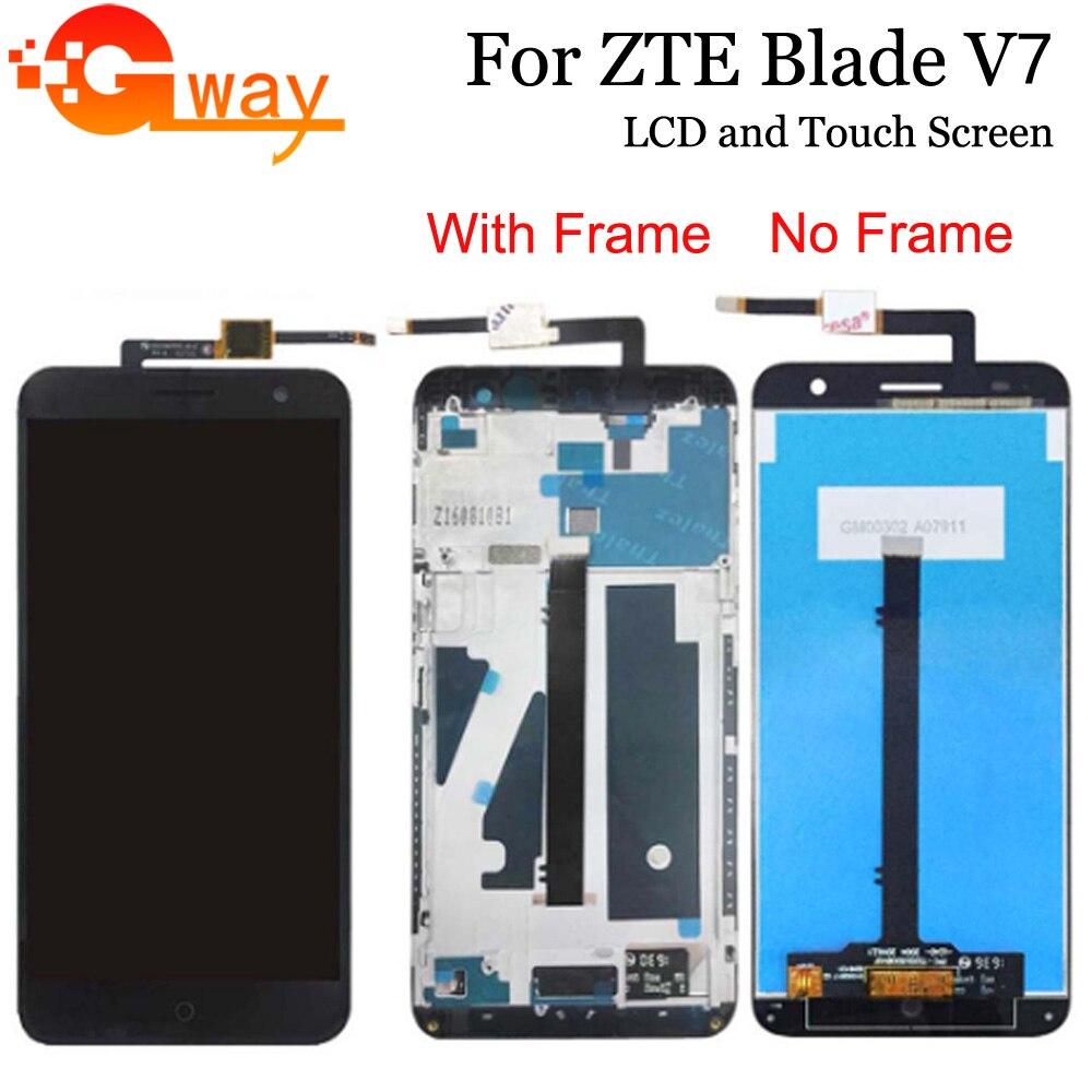 "5,2 ""para ZTE Blade V7 LCD display MONTAJE DE digitalizador con pantalla táctil con marco para ZTE V7 LCD accesorios de teléfono + herramientas"