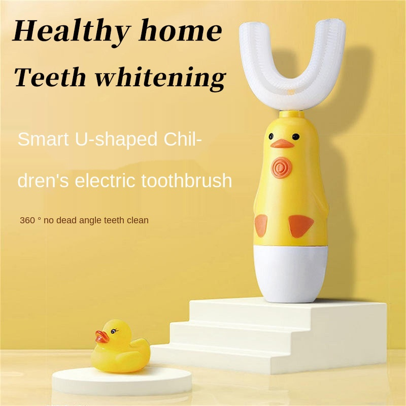Children's 360-Degree Sonic Electric Toothbrush U-Shaped Soft Silicone Toothbrush for Teeth Whitening The Best Gift for Children