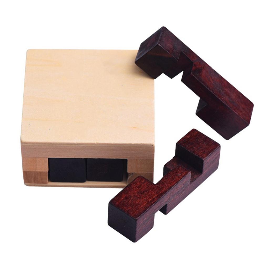 Kuulee Mini rompecabezas de madera caja de desbloqueo juguete rompecabezas laberinto regalo intelectual niños juguetes interesantes