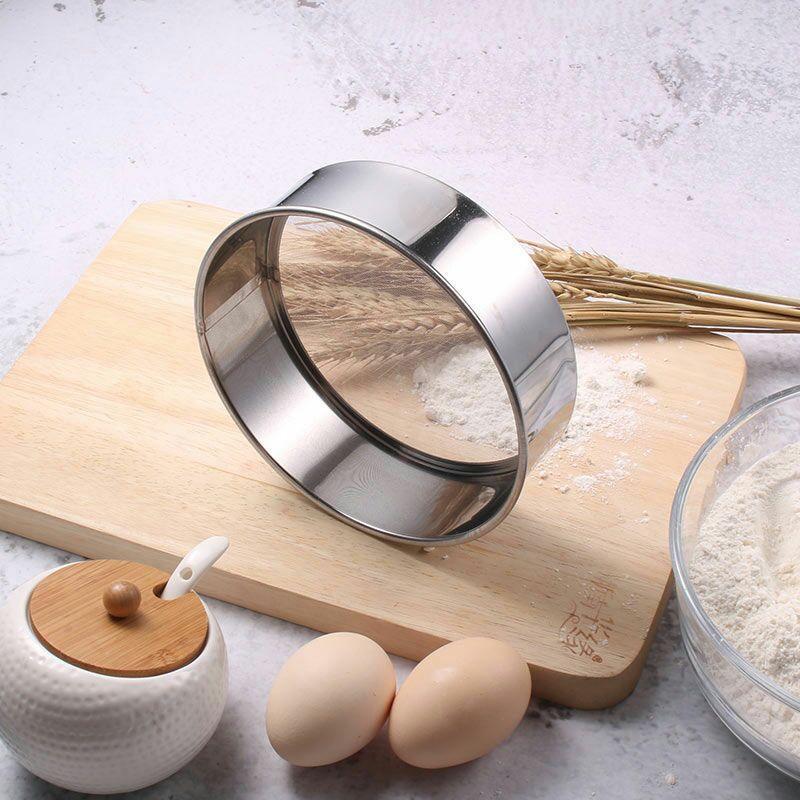 AliExpress - Kitchen Ultra-Fine Mesh Flour Sifter Professional Round Sieve Stainless Steel Sugar Filter Cake Baking Strainer New Arrival