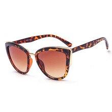 CRSD Fashion Retro Cat Eye Sunglasses Plastic Women Vintage Big Sun Glasses Mirror Sunglasses Female