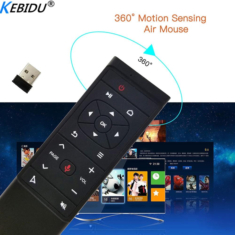 Kebidu MT12 Google asistente de voz aire ratón Gyro de 2,4G Control remoto para Android TV Box H96 X96. HK1 TX6 A95X F1 PK