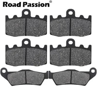 road passion motorcycle front and rear brake pads for bmw rg 1200 gs rg1200 gs rg1200gs k25 cast wheel 2004 2005 2006 2007 2008