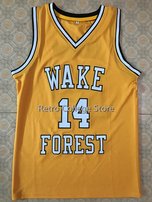#14 Tyrone Bogue Wake Forest Demon Deacons college basketball jersey    #14 Tyrone Bogue Wake Forest Demon Deacons college baske