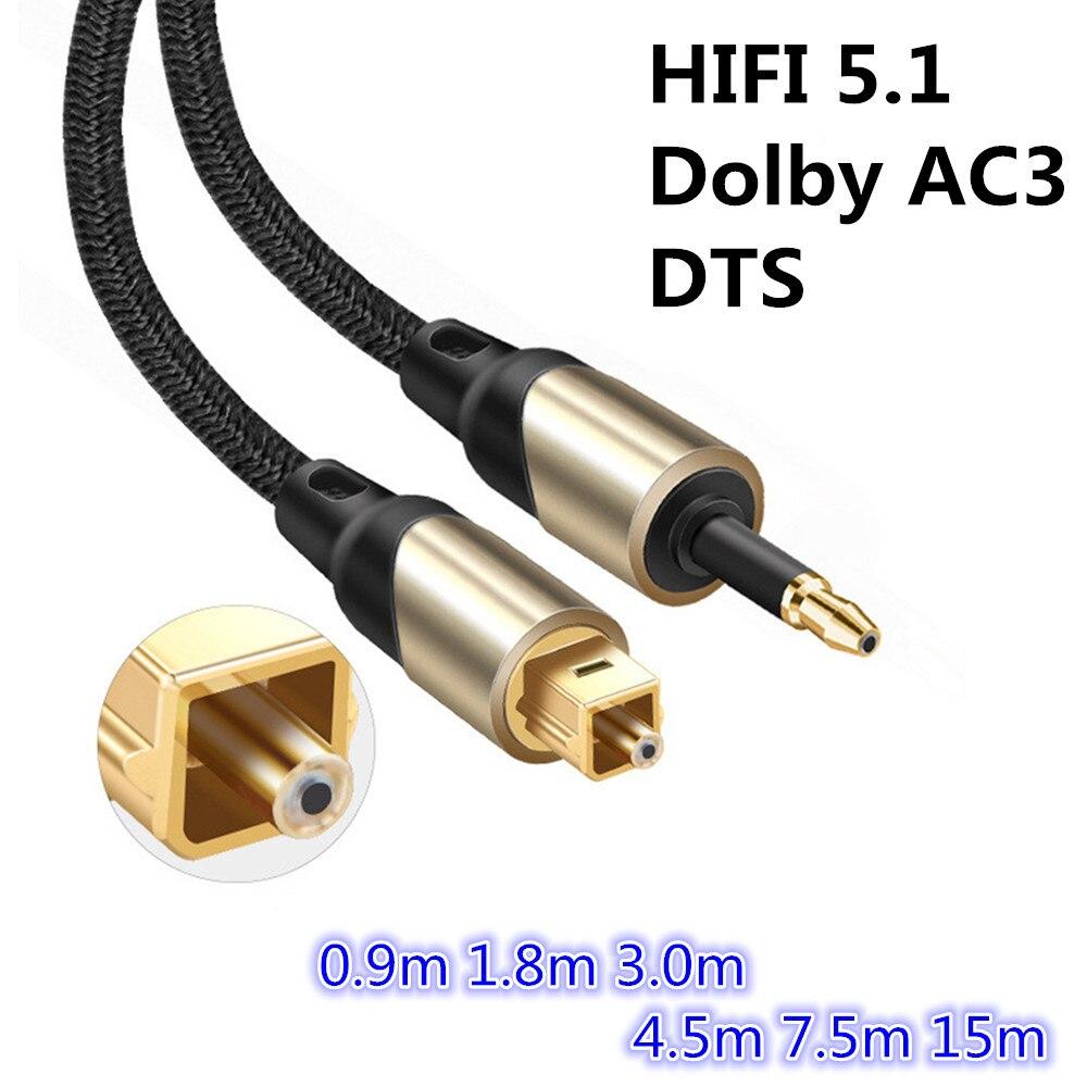 Mini Cable Toslink a Toslink Digital, 3,5mm, SPDIF, fibra de Audio óptico...
