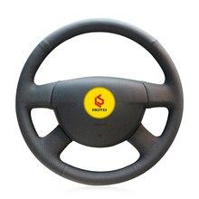 Funda trenzada en el volante para Volkswagen VW Passat B6, funda de volante, funda trenzada para manillar en la dirección