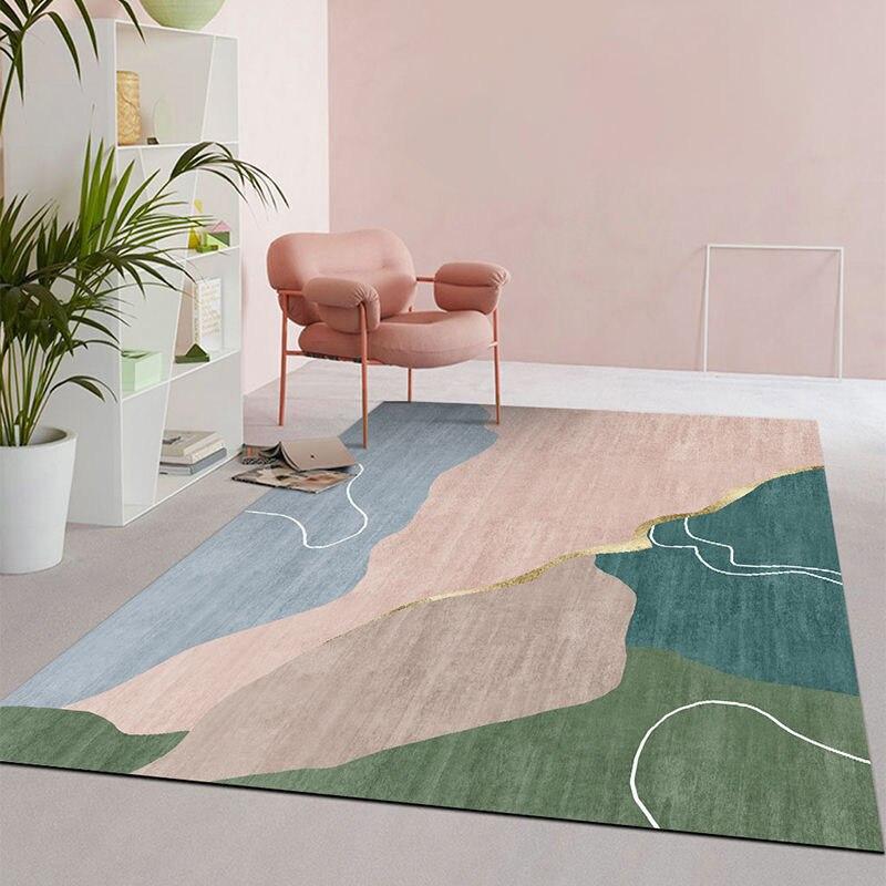 Современные 3D геометрические большие коврики, коврики для гостиной, спальни, Нескользящие, домашний декор, моющиеся коврики для пола, коври...