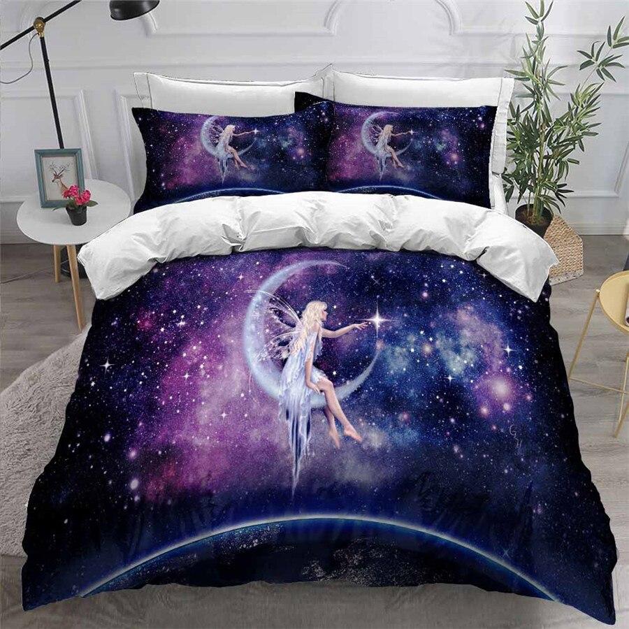 HELENGILI-طقم أغطية سرير مطبوع ثلاثي الأبعاد ، طقم سرير ، غطاء لحاف ، قماش مع كيس وسادة ، منسوجات منزلية # XN20