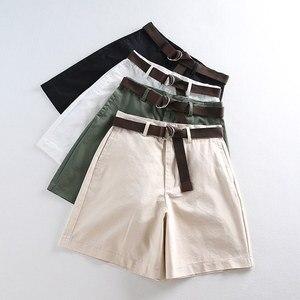 Летние шорты 2020, универсальные повседневные шорты с поясом, женские облегающие шорты трапециевидной формы с завышенной талией, шикарные S-XXL...
