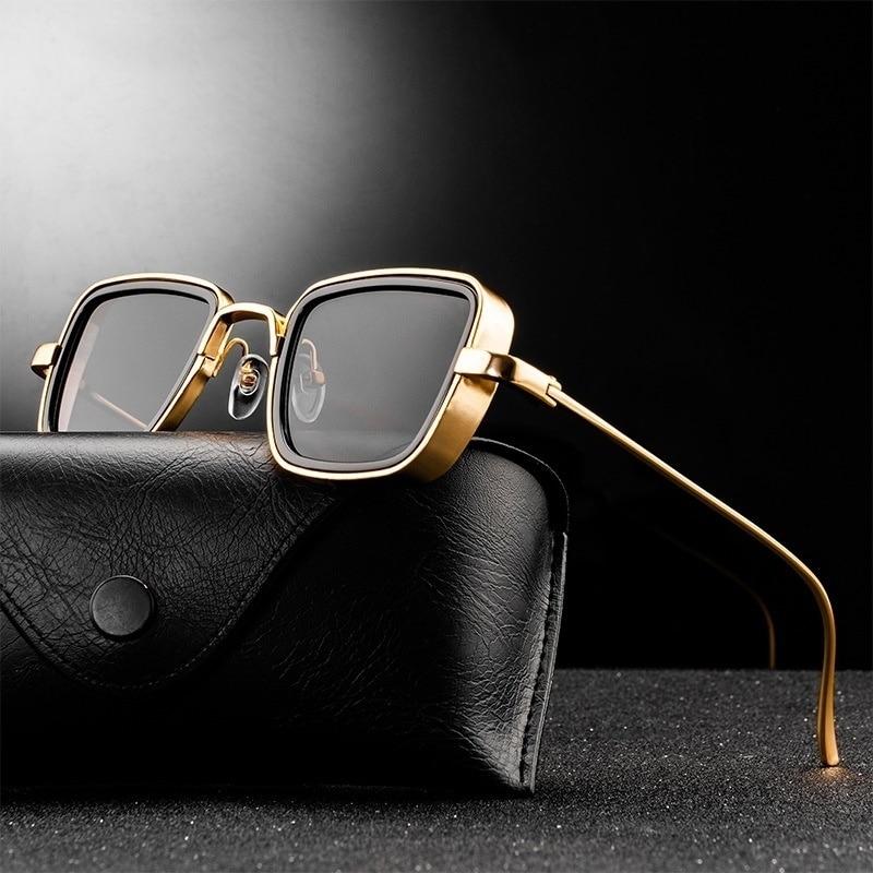 Vintage Steampunk Sunglasses Men Women Retro Metal Square Eyewear Trendy Brand Sun Glasses Shades Ma