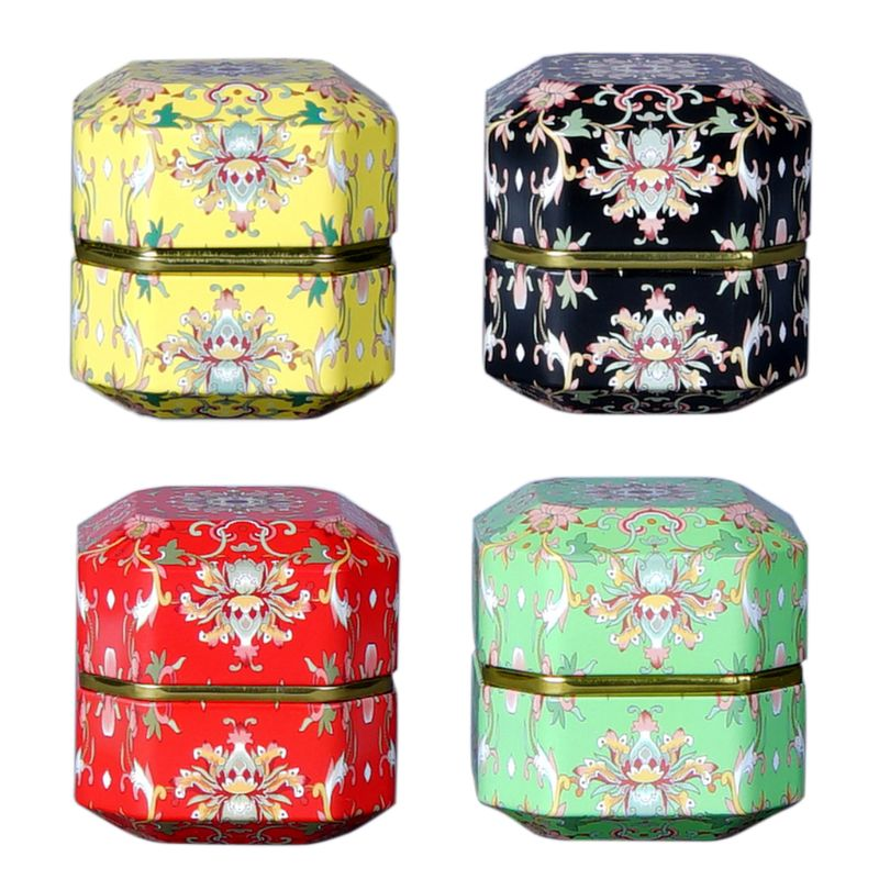 Forma de diamante Mini lata té café dulces caja de almacenamiento té Caddy Metal caja boda caja de regalo para fiestas