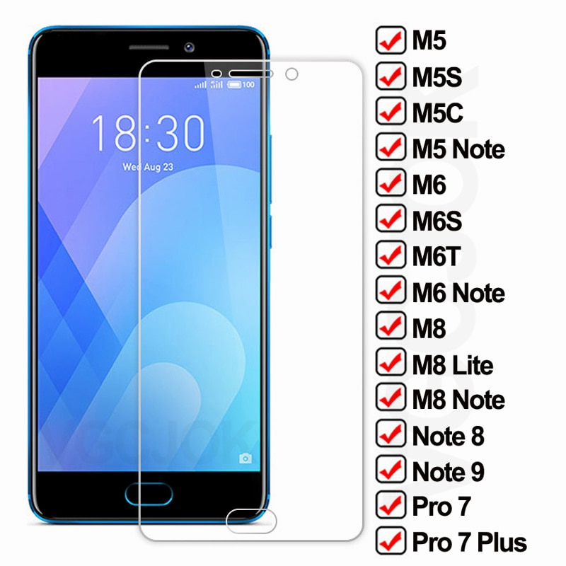 9D Protective Glass For Meizu M5 M6 M8 Note 8 9 M8 Lite Tempered Screen Protector M6S M6T M5C M5S Pro 7 Plus safety Glass Film