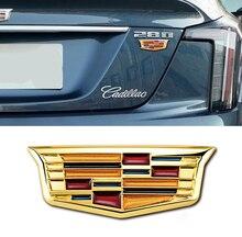 Autocollants dinsigne de coffre de calandre de voiture demblème en métal 3D pour Cadillac ATS BLS CTS CT4 CT5 CT6 EXT STS SLS SLR SRX XLR XTS XT4 XT6