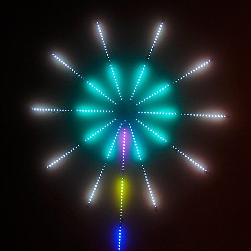 الألعاب النارية LED قطاع ضوء عيد الميلاد RGB فسطون الجنية ضوء تحكم بالموسيقى مصباح النيزك سرادق المنزل الزفاف غرفة إضاءة زينة الشريط