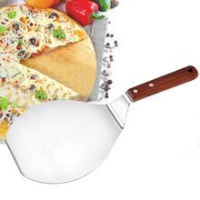 Grande pelle à Pizza en acier inoxydable   Rond, spatule à Pizza, pelle à éplucher manche en bois, grand gâteau à Pizza, transfert sûr pelle de cuisine 1 pièce