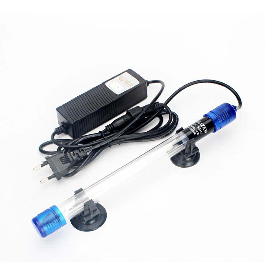EU Plug UV Germicidal For Aquarium Ultraviolet Sterilizer Lamp Submersible Diving Use Radiation-resistant Fish Reef Coral Tank saltwater resistant 5w led aquarium fish tank clamp clip lamp lighting with full spectrum for coral reef spot light e27 lamp