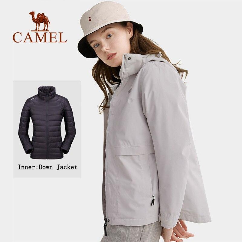 KAMEL Unten Jacke Männer und Frauen Dicken Mantel Abnehmbare Ski Anzüge Herbst Winter Warm Halten Jacke Wasserdicht tragen-wider mantel