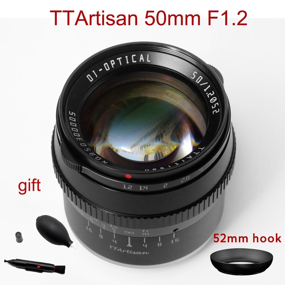 TTArtisan 50 مللي متر F1.2 عدسة لسوني E Fujifilm M4/3 كانون م M43 نيكون Z لايكا ل جبل كاميرا فتحة كبيرة MF APS-C عدسة الكاميرا