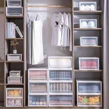 Wonderlife en plastique armoire boîte de rangement tiroir ménage vêtements boîtes de rangement librement assemblé empilage casiers