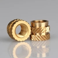 m4 m5 m6 insert knurled nuts brass hot melt inset nuts heating molding copper thread inserts nut free shipping
