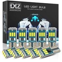 dxz 10pcs w5w t10 led bulbs canbus 9 smd 12v 6000k white 194 168 car interior map dome lights parking light auto signal lamp