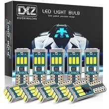 DXZ 10PCS W5W T10 LED Bulbs Canbus 9-SMD 12V 6000K White 194 168 Car Interior Map Dome Lights Parking Light Auto Signal Lamp