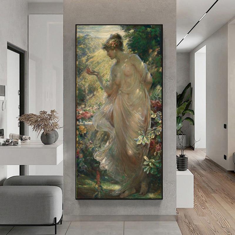 Классическая масляная живопись The Butterfly от Роберта Фаулера, печать на холсте, художественные принты, европейская площадка, картины на холсте...