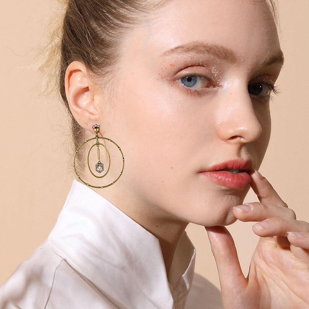 Viennois новинка, серьги-кольца для женщин, циркон, золотой цвет, модные ювелирные изделия, вечерние, дизайнерские серьги Dupe 2020