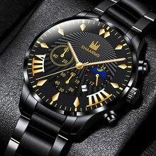 2021 Fashion Men's Sports Watches Luxury Male Stainless Steel Analog Quartz Wrist Watch Men Business