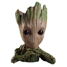 Maceta para maceta de Groot, figuritas de árbol para hombre, bonito modelo de juguete, maceta para jardín, maceta para flor, regalo para bebés