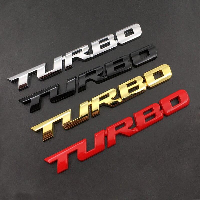 Emblema 3D, TURBO Parrilla de METAL, insignia de maletero trasero para coche, pegatina para Audi, BMW, Ford focus, VW, skoda, seat, Peugeot, lada, Renault y Hyundai