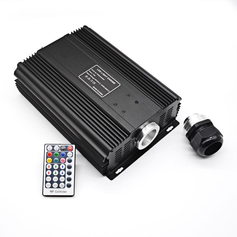 DMX 75W RGB LED Fiber Optic Engine Driver+28key RF Remote controller for all kinds fiber optics
