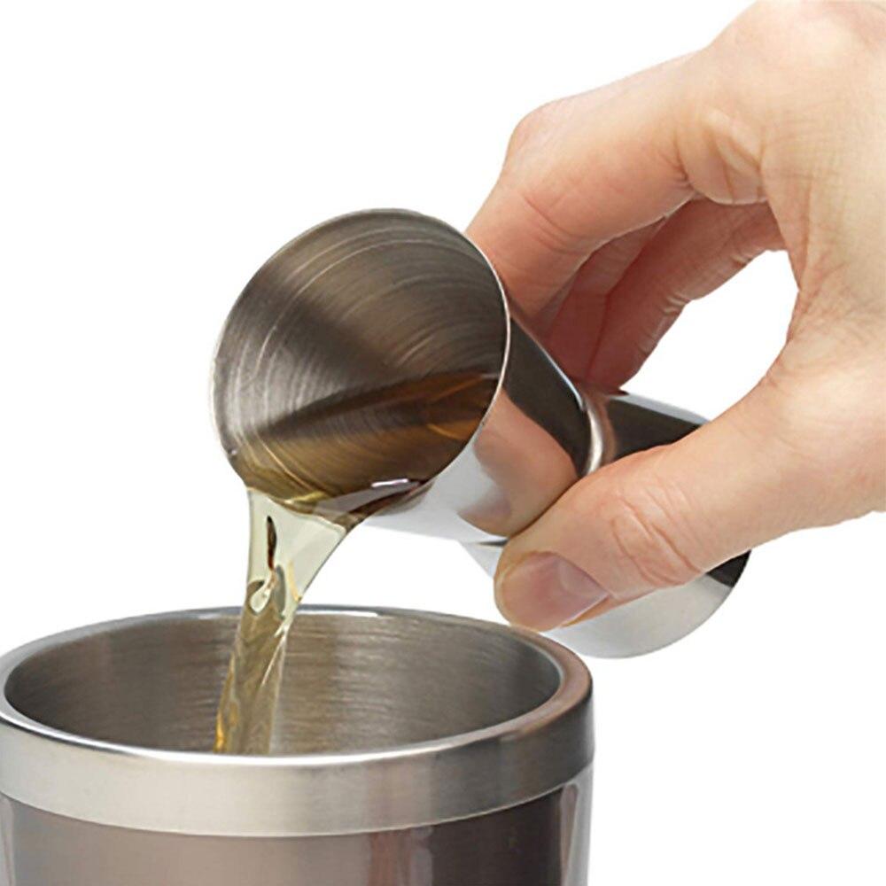 Coctelera de acero inoxidable de 15/30ml, taza de medida, taza de doble disparo, dispositivo de medida de espíritu para bebidas, dispositivo de cocina para medir vino