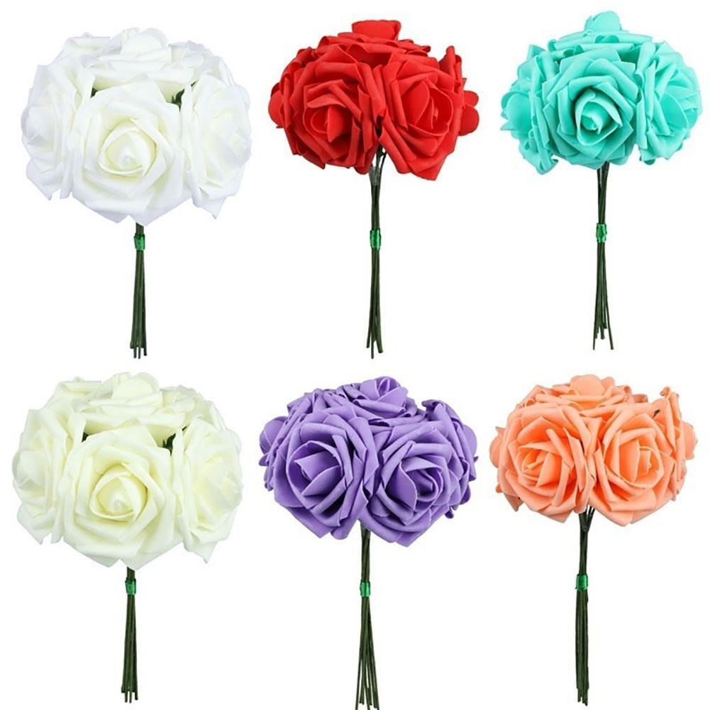 1 букет полиэтиленовый пена 10 головок искусственные роза цветок невесты свадьба