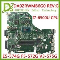 KEFU E5-574G Mainboard For Acer Aspire E5-574 E5-574G F5-572 V3-575 V3-575G Motherboard I7-6500U CPU DA0ZRWMB6G0 Test original