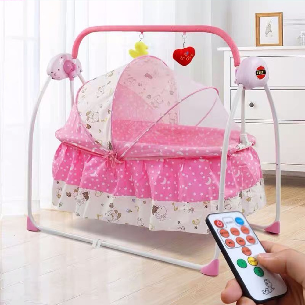 Детские электрические качели для новорожденных кровать для новорожденных умная Колыбель детское кресло-качалка кровать полный комплект К...