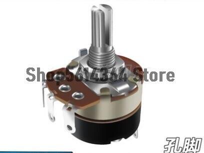 24mm x 30mm, interruptor giratorio lineal simple, potenciómetro de carbono 1k/2k/5K/10K/20K/50K/100K/250K/500K Ohm WH138 negro