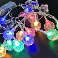 gypsophila bubble ball led string lights fairy garland usb battery powered christmas decorations for home outdoor diy waterproof