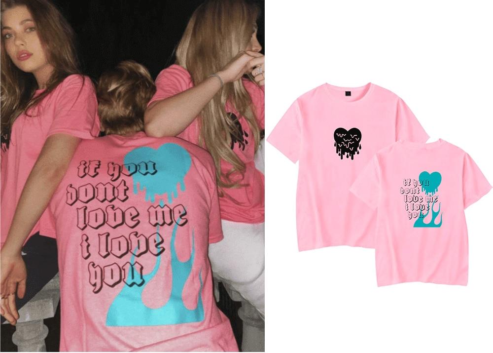 WAMNI AVANI 'IF YOU DON'T LOVE ME I LOVE YOU' Printed Shirt  Avani Gregg Fans Oversize O-neck Short Sleeve Women Funny T Shirt