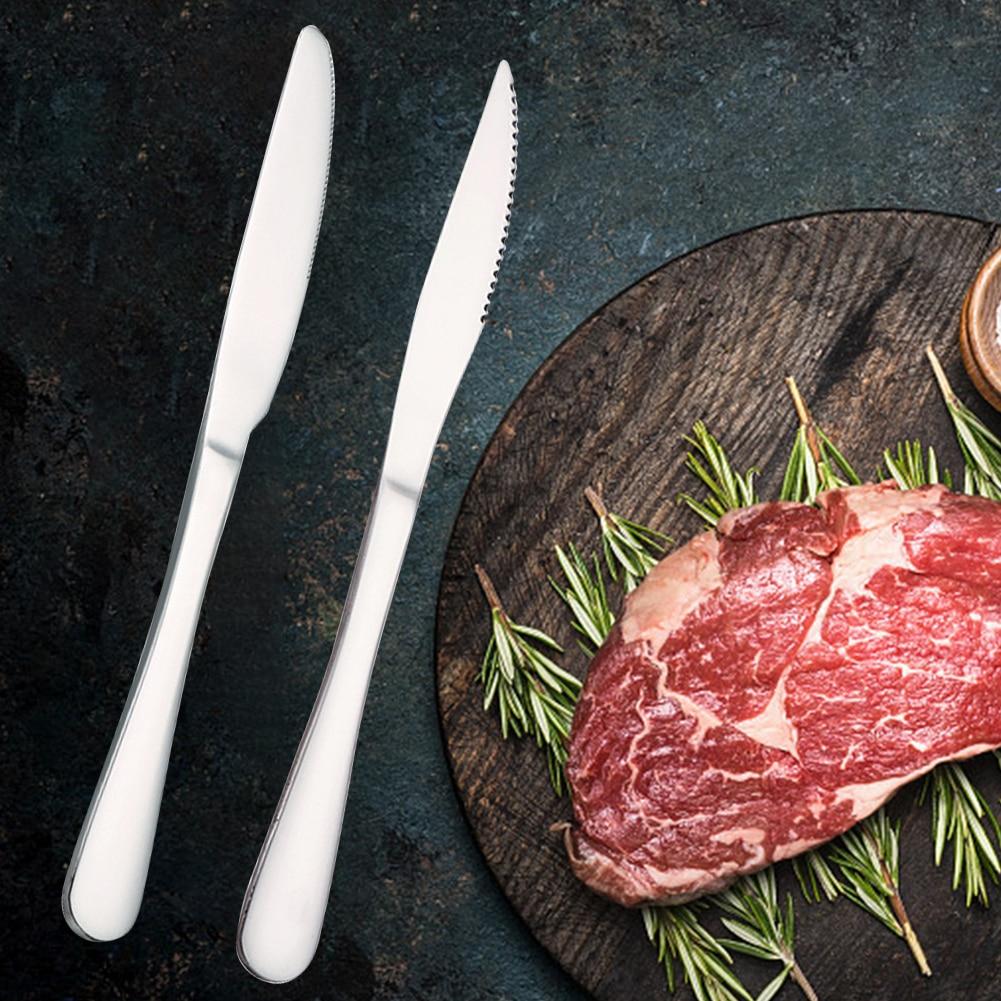 Lavavajillas doméstico occidental de 9 pulgadas seguro para Hotel resistente al calor cuchillo antideslizante de acero inoxidable para restaurante y carne cubiertos de la cena