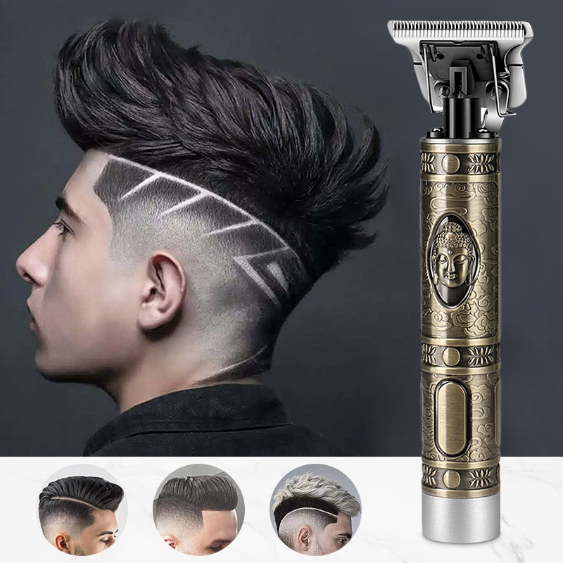 Cortadora de pelo Kemei con batería, cortadora de pelo, cortadora de pelo, Cabeza de Buda, cuchilla de acero al carbono, cabeza de corte profesional, tranquila y fresca