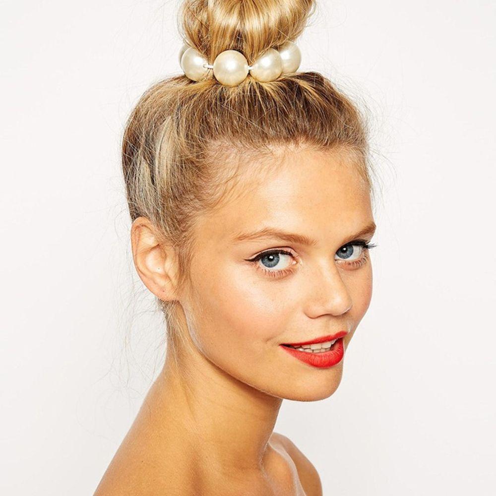 1 pçs venda quente pérola jóias colorido criado elascity cabelo feminino acessórios para senhora headbands festa