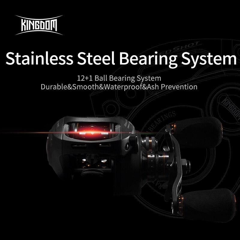 Kingdom Speed Shot Baitcasting Reel Double spool Ultralight 12+1 Ball Bearings 5kg Max Drag 6.5:1 High Speed Fishing Reels enlarge