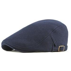 Cotton Adjustable Newsboy Caps Men Woman Casual Beret Flat Ivy Cap Soft Solid Color Driving Cabbie Hat Unisex Black Gray Hats