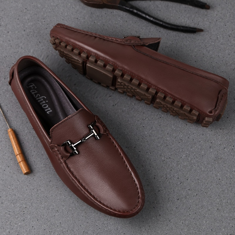 Man Shoes Leather Genuine Summer Mens Moccasin Fashion Loafer Men Luxury Big size  Male Casual Footwear