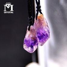 Pendentif en Quartz améthyste violet naturel   Pendentif brésilien en pierre de cristal, point Reiki, pendule de guérison, collier de mode cadeau de bijoux