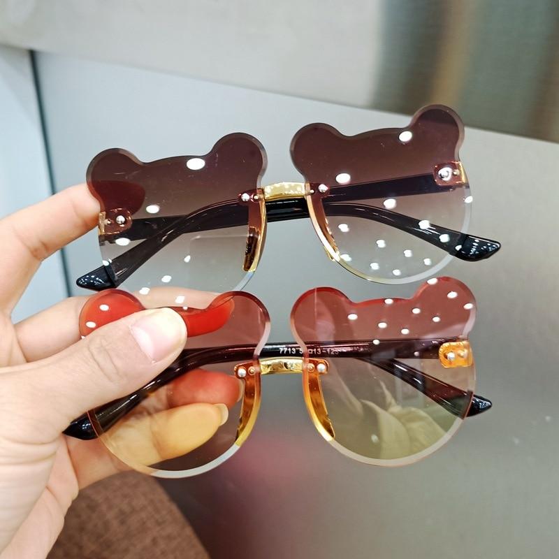 Children's Sunglasses Fashion Baby Sunglasses Glasses Trendy Girls Boys Cute Cartoon Bear Sunglasses Anti-glare Anti-radiation