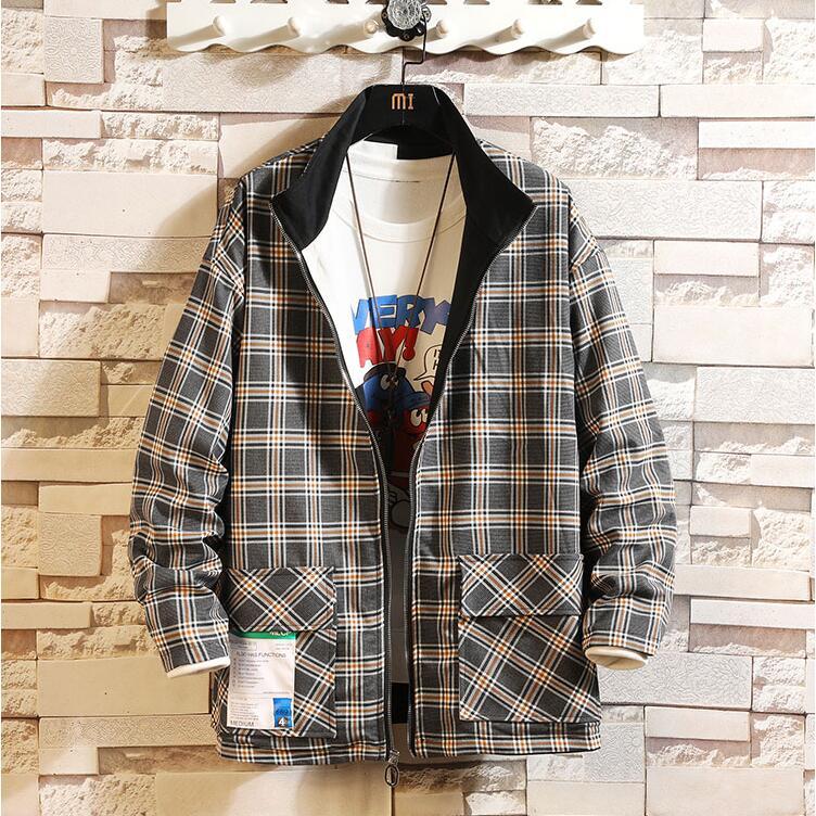 Chaqueta rompevientos para hombre 2020, Abrigo con capucha para hombre, chaqueta de invierno a la moda de doble cara, prendas de vestir con cremallera