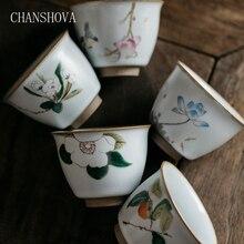 CHANSHOVA tradicional chino Retro pintado a mano sobre la taza de porcelana esmaltada 70 a 110ml tazas de té de cerámica China H150