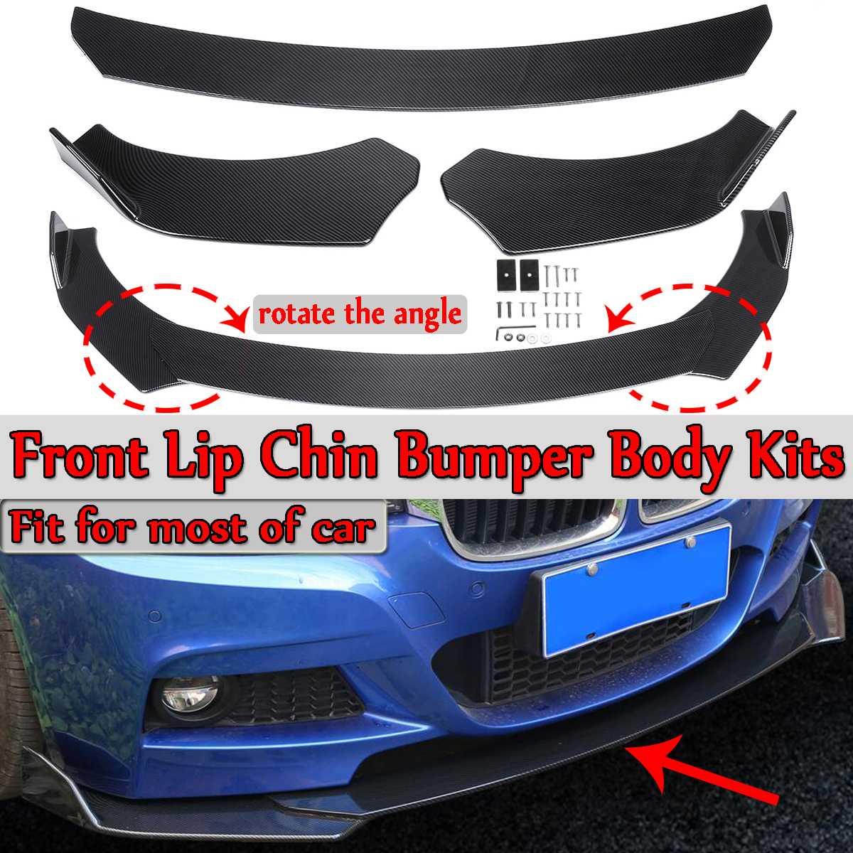 3 Piece Universal Car Front Lip Chin Bumper Splitter Diffuser Spoiler Body Kits For Honda For Audi For Benz For BMW For Subaru